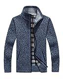Tomwell Giubbotto Parka Uomo Invernali Tinta Unita Cappotto da Uomo Casual Giacche Blu XXX-Large