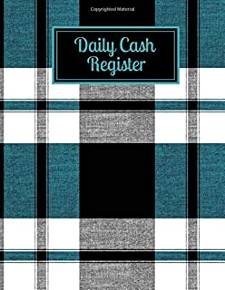 "Daily Cash Register: Cash Recording Receipt Record Book Ledger Journal Log for Tracking Payments, Payment & Spending, Income and Expenses Tracker Gift ... 8.5""x11"" 120 Pages. (Cash Flow Tracker Log)"