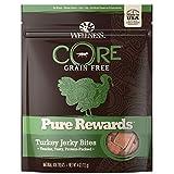 Wellness Natural Pet Food Core Grain Free Pure Rewards Jerky Bites Turkey Recipe Dog Treat, 4 oz