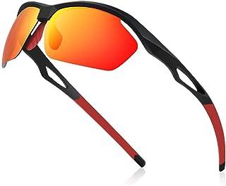 Gafas de Sol Deportivas Hombres Polarizadas Gafas Unisex Anti UV400 Marco TR90 Súper Ligero y Mujer Ciclismo MTB Running Coche Moto Montaña