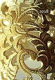 Mini Kalender 2018 - Golden Ornament: ca. A6 - 1 Woche pro Seite