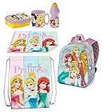 Juego de mochila en 3D Ariel y Princesas Disney, bolsa de deporte, para merienda, escuela, guardería, tiempo libre
