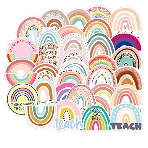 YLGG 50 pieces rainbow waterproof graffiti stickers for laptops, skateboards, suitcases, helmets, mobile phones, motorcycles, etc