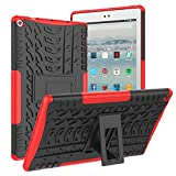 ROISKIN Dual Layer Heavy Duty Shockproof Impact Resistance Protective Case with Kickstand for Tablet 10 inch Tablet Case 2019/2017 Released 9th /7th Generation
