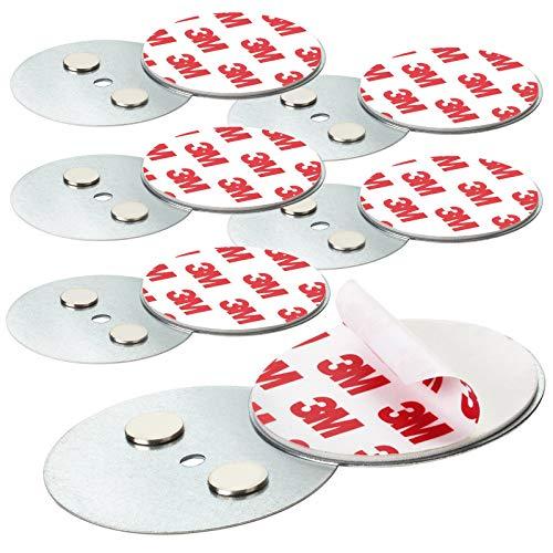 Rauchmelder Magnethalter mit 50mm Ø - 6er Set - Selbstklebend für klein und Mini Rauchmelder - 3M Klebepads mit Magnethalterung zur einfachen Befestigung ohne Bohren und Schrauben