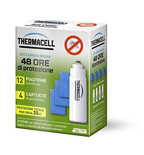 """Carga para faroles antimosquitos, portátil, con cartuchos y placas \""""Axel\"""": 4cartuchos, 12placas, 40horas de protección"""