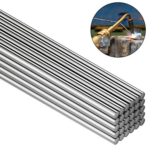 30 Pieces Copper Aluminum Welding Rods 0.08 x 10 Inch Universal Low Temperature Welding Cored Wire Multipurpose Copper Aluminum Repair Rods for Welding Alloy, Stainless, Galvanized Steel, Copper