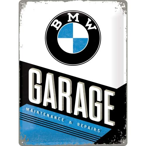 BMW Garage Placa Decorativa, Metal, Multicolor, 30 x 40 cm