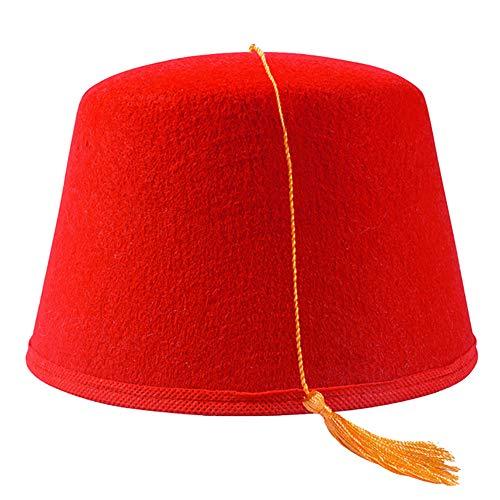rosso con tassello nero Smiffys Fez