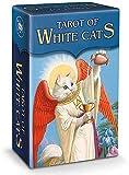 Tarot of White Cats Game, Mini Tarot Decks, Family Party Board Tarjetas De Juego Set para Principiantes (Edición En Inglés)