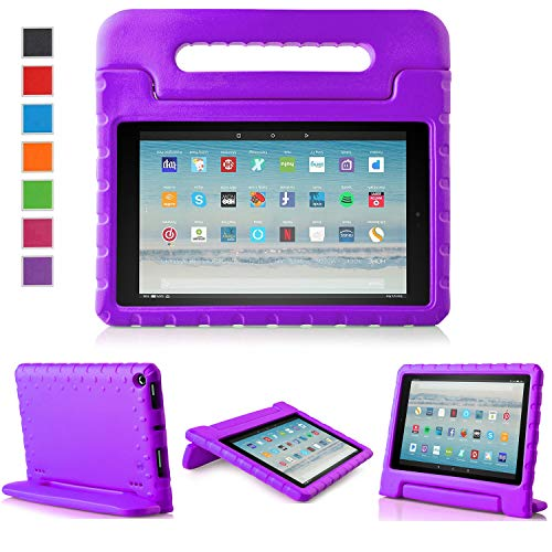 LTROP All-New Fire HD 10 Case - Shock Proof Fire HD 10 Tablet Case for Kids (7th Generation and 9th Generation, 2017 and 2019 Release) - Purple
