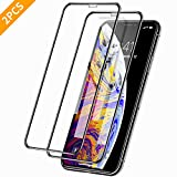 YT DIRECT 2pcs Premium iPhone X/iPhone Xs/iPhone 11 Pro Screen Protectors, Clear Tempered Glass Film with Full...