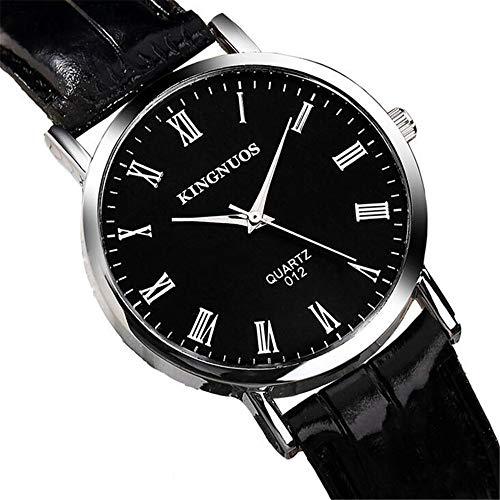 ZSDGY El Reloj Neutral Número Romano Reloj De Moda De La Moda De Los Hombres Ultra-Delgado Reloj De Cuarzo G