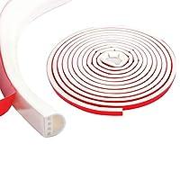 各種サイズ厳選 シリコーンゴム素材 隙間テープ すき間テープ 窓用エアコン防音 防水 厚手静音テープ 気密防水パッキン 14mm(幅)x12mm(厚さ)-白い