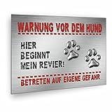 Warnung vor dem Hund Schild - incl. Schaumstoffklebepunkten thumbnail