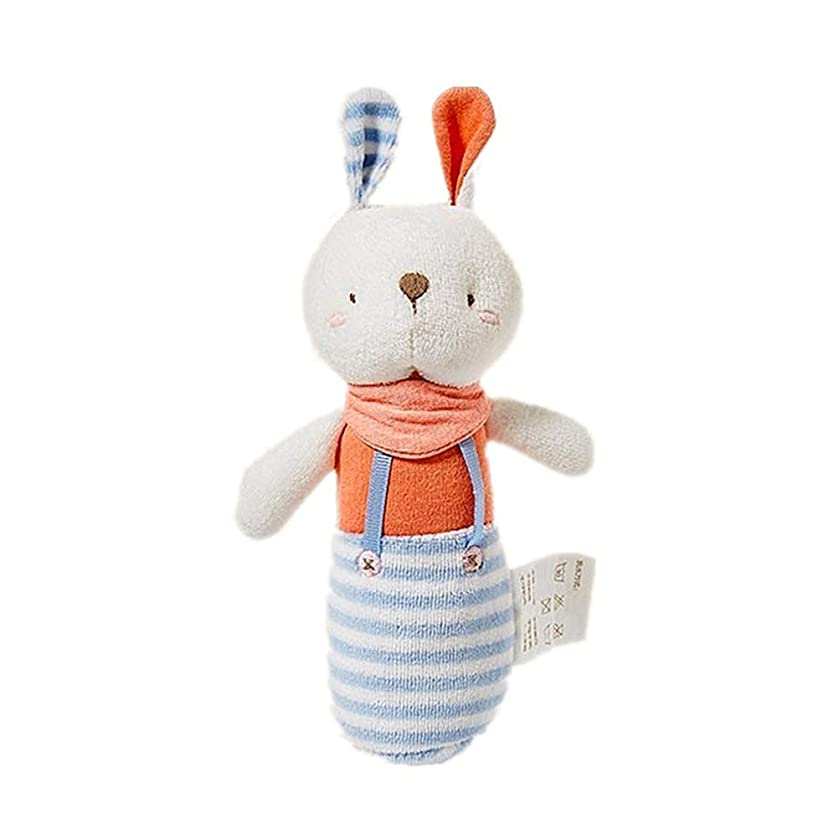 Cute Cartoon Toy Hand Bell Cloth Dolls Toys Lovely Handbell Toys for Baby Newborn Infant (Rabbit)