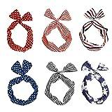 Dee Plus 6 piezas Mujeres Flexible Conejito Del Ala Diademas y cintas para el pelo Con estilo y eleg...