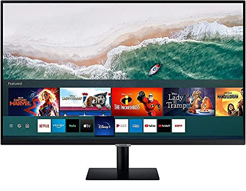 Samsung Serie M5 Smart Monitor LS32AM502NUXEN da 32  Full HD Flat, Air-play e Mirroring, Office 365, Wireless Dex, Casse Integrate, WiFi, HDMI, USB, Bluetooth, No TV Tuner, Versione 2020