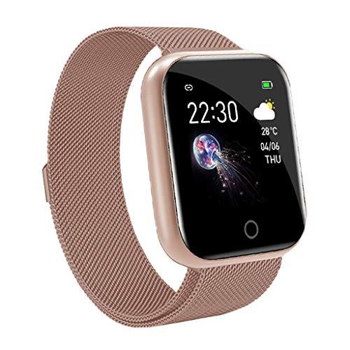 ZChun Reloj rareador de ejer con el Monitor del Ritmo cardíaco, I5 Deportes del Reloj Pulsera Bluetoo rareador de ejer, podóm Walking Hombres Mujeres