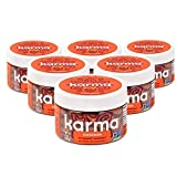 Karma Nuts Cashews with Skin, Whole, Roasted, Vegan, Gluten Free, Buttery Snack Nuts, Natural, Low Net Carb, No Sugar Added, Keto Friendly, Wrapped, 6 Jars (Cinnamon Sugar)