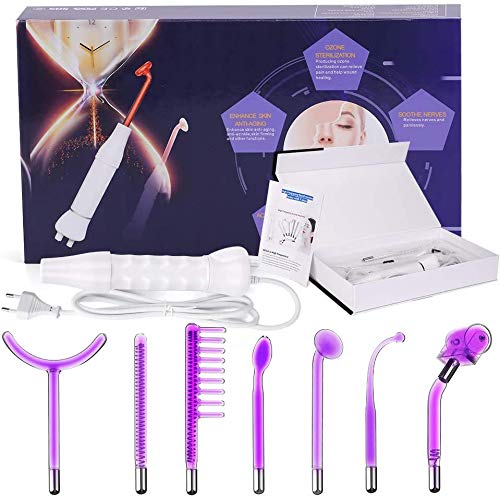 Titoe High Frequency Machine Portable Handheld High Frequency Decive for Acne Treatment Skin Tightening Spot Wrinkles Remover Beauty Therapy Puffy Eyes Body Care Facial Machine