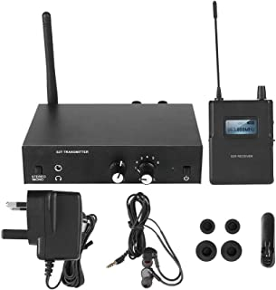 $106 » BTIHCEUOT Professional in-Ear Monitors,Wireless Monitor System Kit 526-535Mhz Transmitter Receiver in-Ear Stage Monitoring(US Plug)