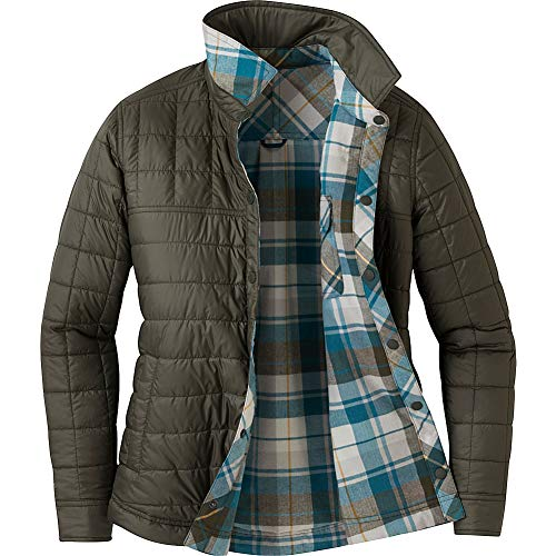 Outdoor Research Kalaloch Reversible Shirt Jacket Peacock Plaid MD