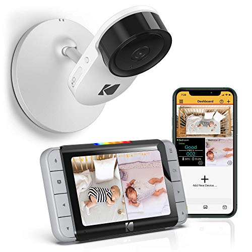 Kodak C520 WiFi Video Baby Monitor with Above-The-Crib View, Parent Unit for...