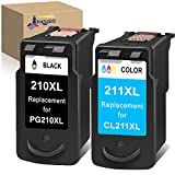 InkSpirit Remanufactured Ink Cartridge Replacement for Canon PG-210 CL-211 210XL 211XL for Pixma MP495 MX410 MX340 MP250 MX320 MP490 MP499 MX350 MX330 iP2702 MP480 MX420 MP280 iP2700 MX360 Combo Pack