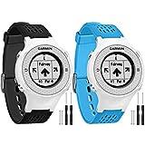 Vozehui Compatible con Garmin Approach S2/S4 Correa de reloj, de silicona suave ajustable para reloj Garmin Approach S2/S4/Vivoactive para hombres y mujeres.
