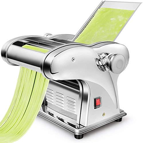 CGOLDENWALL Elektrische Nudelmaschine aus Edelstahl mit 2.5mm Runde &4mm/9mm flache Klinge/Pasta Maschine mit Pasta Cutter mit 6 Dickeneinstellungen DIY für Spaghetti Lasagne Ravioli und Makkaroni
