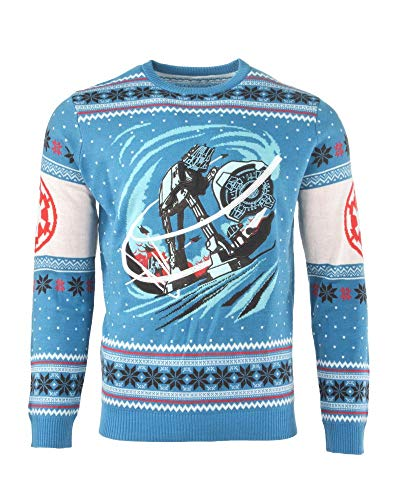 Star Wars Maglione di Natale AT-AT Battle of Hoth Unisex - 4XL
