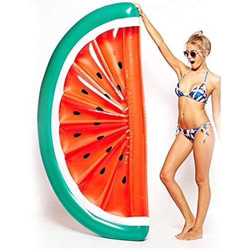 Cozywind Aufblasbare Pool Luftmatratze, Pool Aufblasbare Hängematte, Riesen Aufblasbarer Pool Sommer Pool Spielzeug, Aufblasbare Pool Lounger Spielzeug für Erwachsene Kinder (Wassermelone)