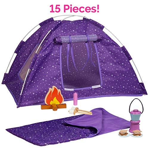 Adora Amazing World Camping Wooden Play Set  15 Piece Accessory Set For 18 Dolls [Amazon Exclusive]