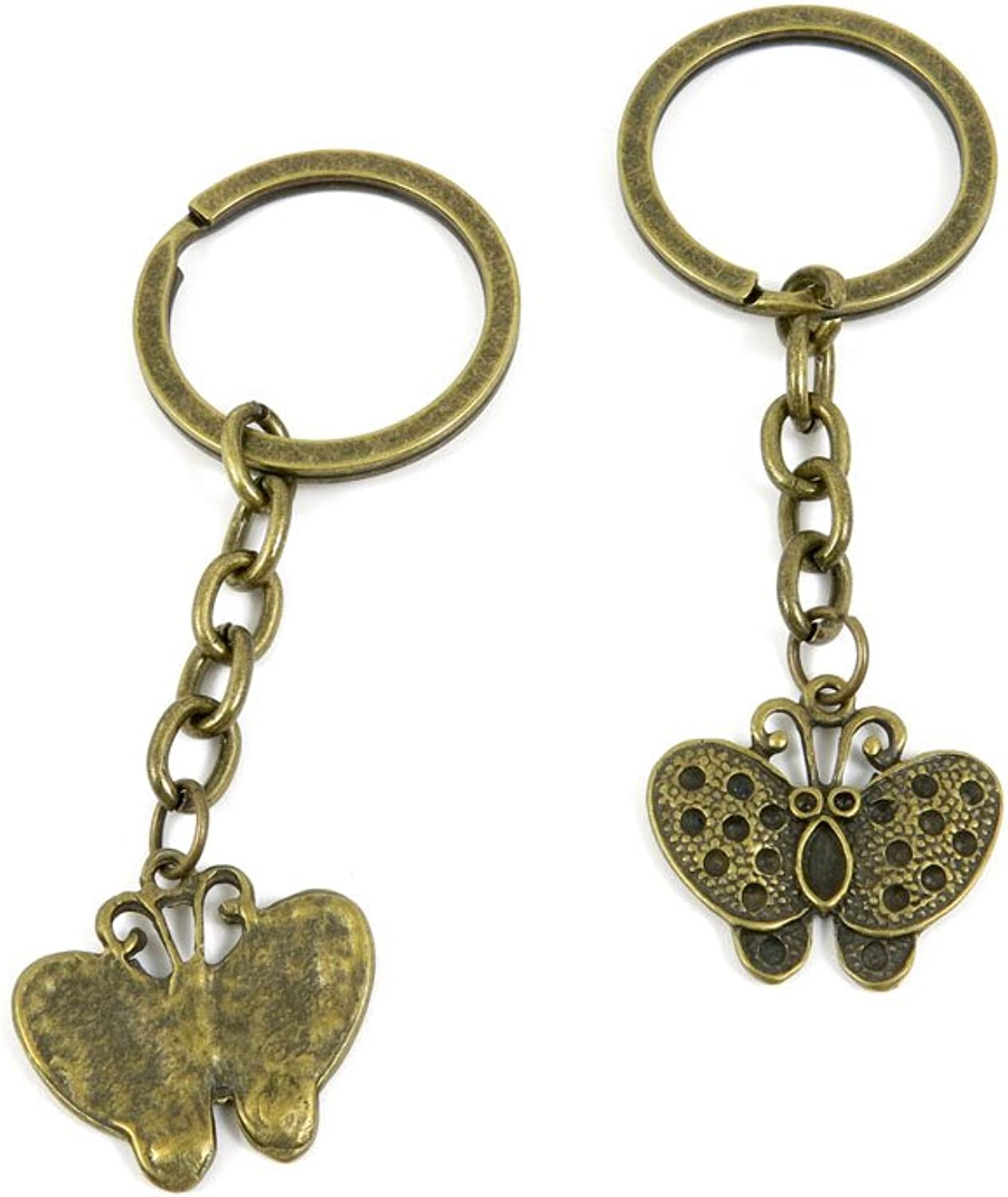 200 Pieces Fashion Jewelry Keyring Keychain Door Car Key Tag Ring Chain Supplier Supply Wholesale Bulk Lots Q6PI2 Butterfly
