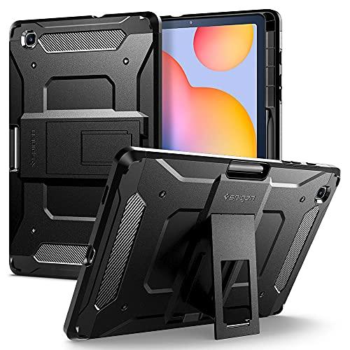 Spigen Tough Armor Pro Compatibile con Samsung Galaxy Tab S6 Lite 10.4 Cover Custodia con Pencil Holder (2020) - Nero