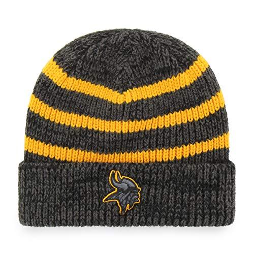 OTS NFL Minnesota Vikings Men's Black Line Cuff Knit Cap, Black, One Size