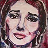 Poster 40 x 40 cm: Maria Callas von Christel Roelandt -
