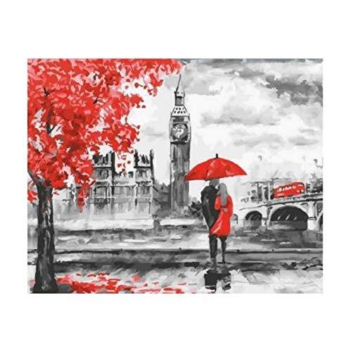 YKCKSD Puzzle 1000 Pezzi Romantico di Londra Immagini Fai da Te Elegante Home Decor Art Gift