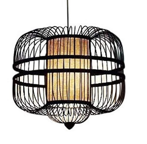 Fine Asianliving Pendelleuchte Hängelampe Bambus Handgefertigt - Laurent Pendelleuchte Beleuchtung Bambus Lampenschirm Geflochten Lampe Belechtung Rotan