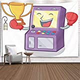 SOAUTY Star Christmas Tapestries, Tapestry Wall Hangings 80X60Inch Boxing Winner Arcade Machine Cartoon Living Room Bedroom Thanksgiving Christmas Halloween Day Fall Tapestry Wall Covering Home Décor