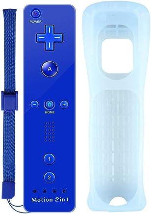 Motion Plus Mando a Distancia para Wii y Wii u COOLEAD Remoto Motion Plus Controller para Nintendo Wii y Wii U Controlador de Juego con Funda de Silicona y Muñequera