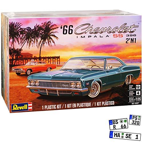 Chevrolet Impala SS 396 1966 Grün Bausatz Kit 1/25 1/24 Revell Monogram Modell Auto