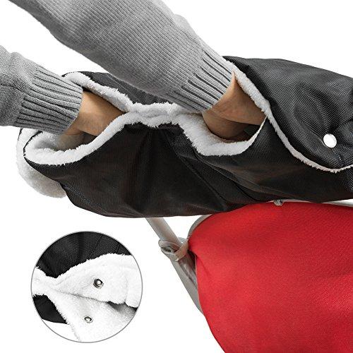 Guanti Passeggino, TBoonor Guanti Per Passeggino Proteggi-Mani Scaldamani Antigelo Accessori, Manicotto Con Interno In Pile, Misura Universale Per Passeggino, Buggy, Rimorchio Per La Bicicletta