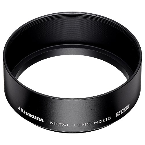 HAKUBA レンズフード メタルレンズフード 高強度6000系アルミニウム合金製 58mmフィルター径装着用 ブラック KMH-58