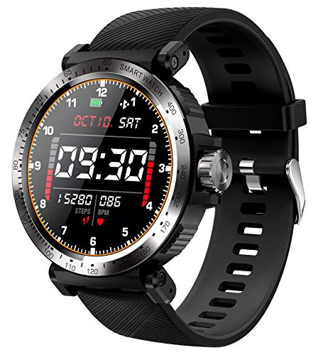 Smart Watch Touch Screen Fitness Tracker Heart Rate Monitor Blood Pressure Activity Tracker Pedometer Calorie Step Sleep Tracker Bluetooth Call Reminder IP68 Waterproof Smart Watch for Android iOS