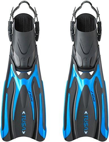 TUSA Vesna HyFlex - tauchen flossen Faltbare verstellbare - SF-0101 (XS (34-38), Fishtail Blau/Schwarz)