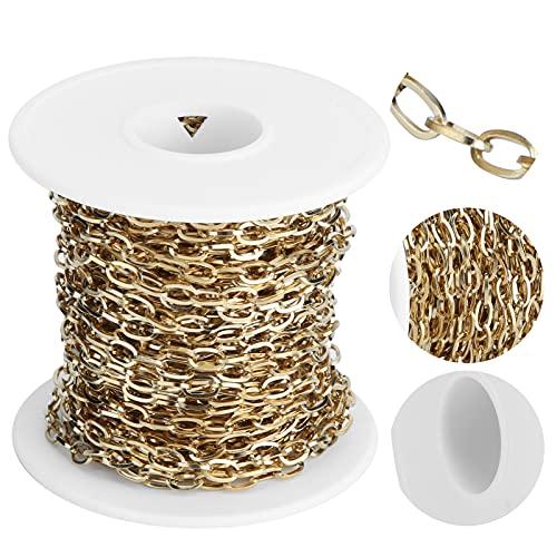 SHYEKYO Cadena extensora de Collar, Cadenas de Acero Inoxidable para Bricolaje para Collares