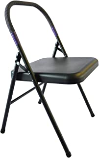 Pune Yoga Chair - Black Chair with Purple Wrap