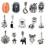 Sexy Sparkles Charm-Set für Damen, 10 zufällige Perlen von Halloween, für Schlangenketten-Armbänder